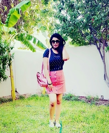 Style tip Pair your denim skirts with some cute t-shirts to have a chic and comfy look   Wear this combo with some sneakers and you r good to go  love#instagood#me#tbt#cute#follow#followme#photooftheday#happy#tagforlikes#beautiful#self#girl#picoftheday#like4like#smile#friends#fun#like#fashion #denim