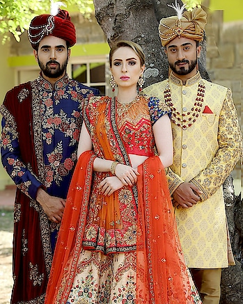 Samyakk bridal collection #samyakkclothing #samyakkdesign #samyakkblog #wedding-outfits #wedding-suits-designer #wedding-bride #weddinglehengacholi #wedding_sherwani #wedding-collections #bridal-jewellery #makeup and styling #bridal-fashion-boutique #perfectmatch #perfectionandbeauty #traditionalwedding #classic glamour #couple-photography #greeneryaround #colourslove #designerwearindia #indianculturestyle #indianbridechoice #brideandgroomexhibition #men-fashion #beard-model #fashion jewelry #groominspiration #mojries #weddinggoals  #weddinginspirations #royaldressing #outdoorshooting #readyformarriage #glamupthelook #bollywoodweddings #inspirationalstyle #stylistdiaries #indian attire