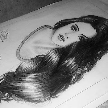 Selena Gomez wolves drawing by me! #selenagomez #selena #selenator #selena_gomez #art #cartoon-art #my-art #artwork #sketchbook #sketch #sketchings