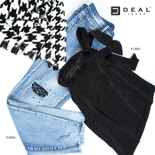 Shimmers & rips for your party nights! #DealJeans