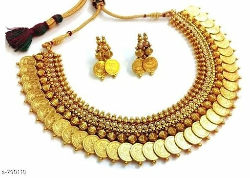 Temple Jewellery Coin Necklace Sets Material: Alloy  Size: Free Size  Description:  Variable (Message Us For Details)  Work: Beads Work / Embellished Work  Dispatch: 2 - 3 Days