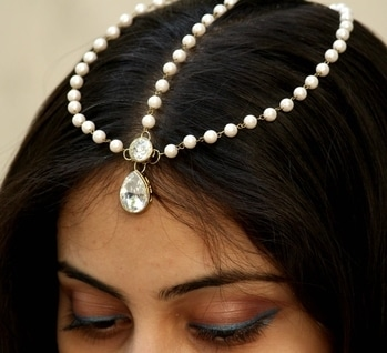 #pearls #moti #maangtikka #headgear
