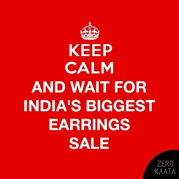 🕊Sale Sale Sale Sale Sale 🕊 . . India's Biggest Earrings Sale only on ZeroKaata😍😍 . Sale Starts From 8th of september ( save the date ) . . #jewellery #jewelry #jewelrysale #jewellrydesign #earringsale #earringshop #earringsogood #giveaway #fashionblogger #jewelleryshop #JewelleryBlog #sales #NecklaceHandmade #earringshandemade #jewelrymaking #jewelleryaddict #jewellerygram #jewellerysale #IndiasBiggestJewellerySale
