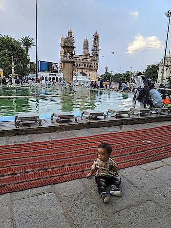 #charminar view from #meccamasjid #hyderabad #littlebaby#muhammadali