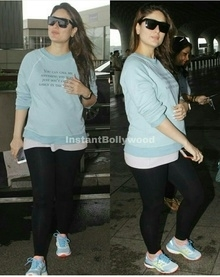 Kareena kapoor khan spotted at airport in this uber chic look