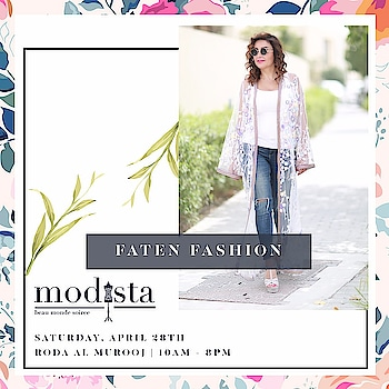 A flash of colour & dash of glamour served on a platter from Faten Fashion Design !! Grab their best pieces at Modista on 28th April, Roda Al Murooj Dubai from 10am - 8pm !! . . #Event #Fashion #Preview #Trunkshow #DubaiEvent #DubaiParties #Luxury #Gowns #Dresses #DXBEvents #PartySeason #PartyPreview #Modistadxb #FashionHouse #fashionLifestyle #LifestyleExhibition #RodaAlMurooj #Dubai #DubaiEvents #EventinDubai #shoppers #MyDubai