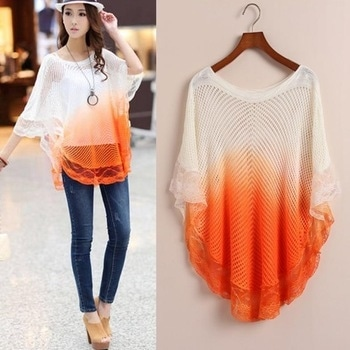 Restocked again  🎀Beautiful Lace knitted poncho🎀  Size - Free (Orange, Pink, Sea green, Royal blue, Gray,Yellow)  6👈 color Available  Price 470+ship  Aavviiii *Ready for Dispatch*