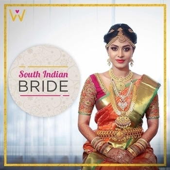 Exquisite South Indian bride in the beautiful kanjivaram saree with complementing antique gold jewelry!  #WedLista #FashionForWeddings