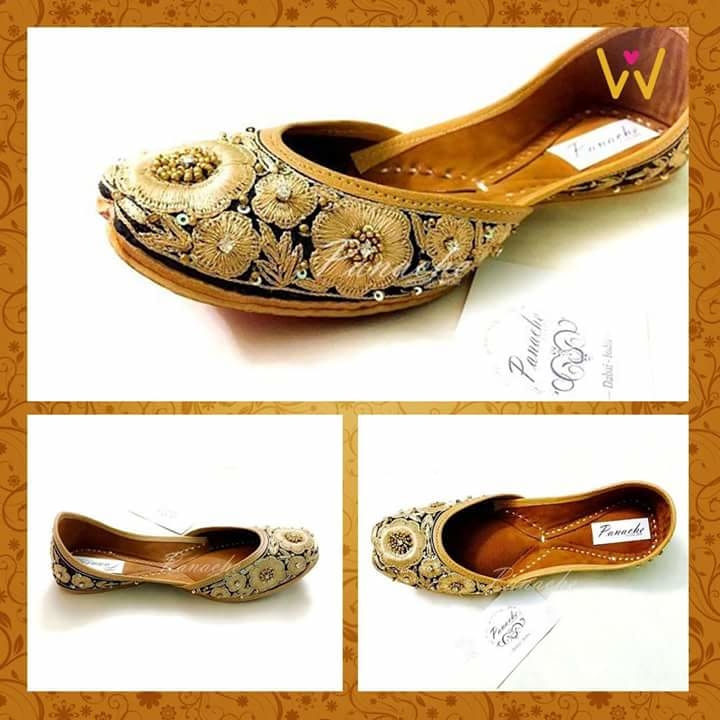 Dazzle your feet with this tensel jhutti from WedLista.com!  SHOP NOW: http://bit.ly/WL_Juttis  #WedLista #FashionForWeddings #loveforjhutti #goldened #weddingwear #loveforethnic #wedding-bride #roposodaily #ropo-love
