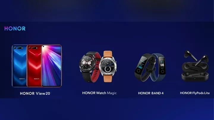 #HonorView20, #HonorWatchMagic, #HonorBand4 & #HonorFlyPodsLite are Launched Globally  Read More: /honor-view-20-watch-magic-honor-band-4-flypods-lite-launched-globally/