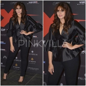 Yay or Nay : Huma Qureshi in Madison. Huma Qureshi and her brother Saqib Saleem attended 'xXx : Return of Xander Cage' premiere last night in Mumbai.Wearing a peplum hem and sleeve Madison top with black jeggings, Huma styled her look with a pair of glittery pumps and dainty jewellery. As the look was all black, I wish she had done her hair back/up and added a dark lip. Would have elevated the whole look to another leve.