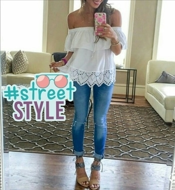 Summers are all about off shoulder white tops 😊😊 #Summers #Offshoulder #trends2017 #streetstyle #fashiondiaries #streetstyle
