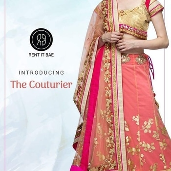 "Introducing Ineffable Designs from The Couturier, the label that speaks only one language ""Fashion"". Explore beautiful ethnic range at RENT IT BAE.  #rib #rentitbae #thecouturier #ethnic #weddingcollection #partywear #indiandesigners #rentitbaedesigners #designeroftheday #shootdiaries #newbeginnings #fashion #womensfashion #womenswear #designer #newcollection #wedding #renting #india #couture #glamup"