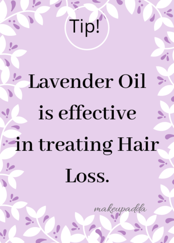 Tip of the Day . . Lavender oil is extremely effective in treating hair loss. This is because it cures insomnia, stress, anxiety and depression, which are the common causes of hair loss. . . Regular massage with this oil helps in controlling hair loss and improving hair growth by increasing blood circulation. . . According to certain preliminary studies, lavender oil, when combined with other herbs, can help fight hair loss. . . . . . . . . . . . #haircare #haircareroutine  #contentcreator #contentwriter  #diyoftheday #diy #tipsforhair #tipsforhaircare  #beautyblogger  #beautyinfluencers #lavenderoil #oiling #naturalingredients  #bangalorebeautyinfluencer #makeupadda #indianbeautyblog #indianbeautyblogger #lavenderessentialoil #essentialoils #bangalorebeautyblog #bangalorebeautyinfluencer #tipoftheday  #haircaretips #hairgrowth #hairmassage #shininghair #hairloss
