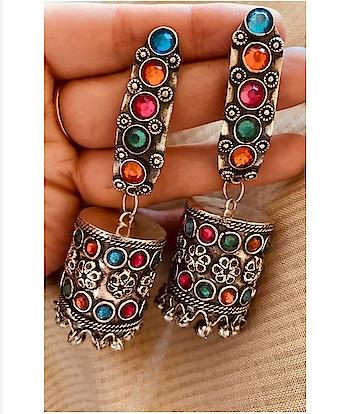 WHATSAPP @ +918826476068  #jewellerytrends#jewellerylover#jewellery_blog#jewellerydesign#jewellery#jewellerygoals#necklaces#necklace#kundanjewellery#kundanjewelry#kundannecklace#earringswag#earringsoftheday#earringsogood#ring#crystalnecklace#oxidized#oxidisedstuds#earstuds#oxidisedcombo#choker#germansilverjewellery#germansilver#gsjewellery #oxidisedjhumka#oxidizedjhumka#earrings#oxidisedjewellery#oxidizejewellery#oxidisedearrings