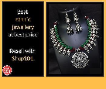 Download : http://bit.ly/2D12b3g  #ethnicjewellery #ethnic-wear #ethnicfashion #necklace #earnings #womenethnicwear #womennecklace #fashion #thebazaar #sellonline #onlinebusiness #businesswoman #businessman #business #shop101#workfromhome