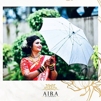 Because you glow differently when you are a bride! 💕  Bride flaunting- Two toned peshwai silk saree with beautifully handcrafted blouse with golden zardosi & French knot embellishments!  Book us to get your bespoke wedding wear designed & styled by Aira. DM for details!  #aira #airabyaishwarya #custommade #tailored #designer #outfits #weddingwear #weddingdesigner #punedesigners #bride #bridesofindia #bridesofinstagram #bridalwear #banarasisaree #peshwai #silk #handcrafted #embroidered #designerblouses #dmfororders