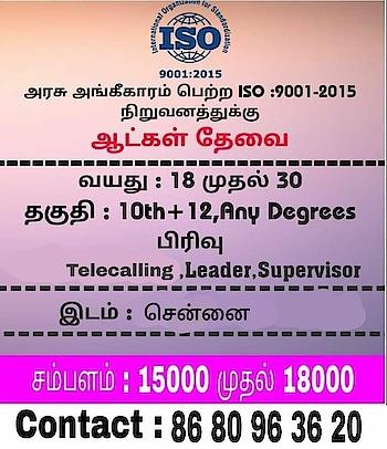 job in chennai..... #tamilnadu #chennai