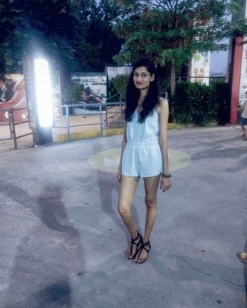 #blue #roposo #roposolove #fashion #romper #lovelyevening #outingscenes #posenpost #funtimes