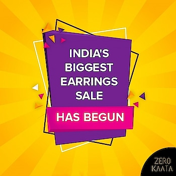❤ Yes It's Live ❤ . . India's Biggest Earrings Sale only on ZeroKaata😍😍 . SHOP NOW for Unique and Skin Friendly Designs at Flat 80% Off . . Visit www.zerokaata.com . . #jewellery #jewelry #jewelrysale #jewellrydesign #earringsale #earringshop #earringsogood #giveaway #fashionblogger #jewelleryshop #JewelleryBlog #sales #NecklaceHandmade #earringshandemade #jewelrymaking #jewelleryaddict #jewellerygram #jewellerysale #IndiasBiggestJewellerySale  #sale #dresses