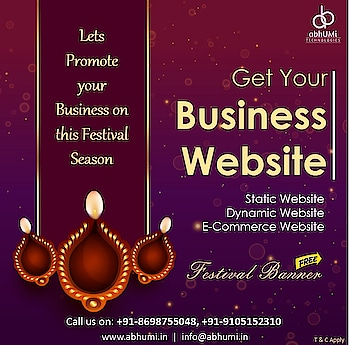 """Good design is obvious. Great design is transparent."" We build professional website at affordable prices. Lets Promote your Business on this festival season.   ""Flat Discount 20% on every website on this festival Season."" Visit us for more details Email: info@abhumi.in Contact: +91-9105152310, +91-8698755048  #abhumi #webdesign #designing #webdevelopment #website #technologies #ecommercewebsite #dynamicwebsite #staticwebsite #domainhosting #searchengine #IT #development #business #google #ITSolutions #bestservices #dehradun"