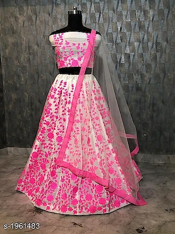 only +1450 order for whstsapp no -8360028409 Aradhya Stylish Women's Lehengas Vol 5  Note: Products From This Catalog Are Replica And Could Have Quality Issues    Fabric: Lehenga - Net, Blouse - Banglori Silk, Dupatta - Soft Net Size: Lehenga - Waist - Up To 28 in To 40 in, Blouse - 0.8 Mtr, Dupatta - 2.2 Mtr Length: Lehenga - Up To 42 in, Flair - 3 Mtr Type: Lehenga - Semi - Stitched, Blouse - Un Stitched Description: It Has 1 Piece Of Women's Lehenga, 1 Piece Of Blouse & 1 Piece Of Dupatta Work: Lehenga - Embroidery, Blouse - Embroidery, Dupatta - Lace Work Dispatch: 2 - 3 Days
