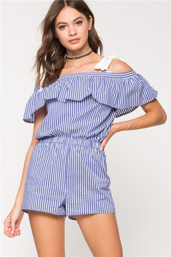 Shop The #Summerstaple❤ Striped Boatneck Jumpsuit  #newtrends #tc5clothing #jumpsuits