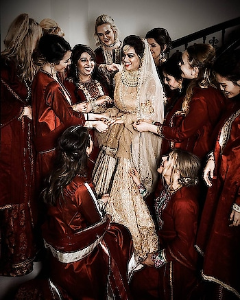 A delightful morning as we love how the beautiful bride @akinamalsi is flanked by her gorgeous bridesmaids dressed in crimson @labelnityabajaj for candid photography by @signe_vilstrup  Such a pleasure to be a part of this delightful wedding where the bride paid brilliant attention to detail😍 Congratulations @akinamalsi and thank you for making us a part of your unforgettable wedding experience 😍❤️ #bridesmaids in #NityaBajaj  #maroon #oxblood #happiness #phootooftheday #potd #weddingsaga #weddingfashion #NityaBajaj