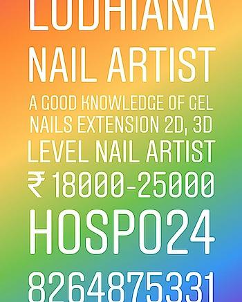 #Jobs #Update © #Hospo24 • #Nail #Artist #nailart Required in #ludhiana  Salary :- ₹ 18000 to 25000 Apply-here :- https://bit.ly/2w3Ym74 •  Retail Management WhatsApp 8264875331 Media Partner : www.hospo24.com  #nails #nail #glitter #nailart #shiny #polish #nailpolish #nailswag #nailvideo #nailartist #nailsmagazine #natural #nocolor #nails #lovenails #creativenails #kiarasky #colorclub #perfectmatch #fashionblogger #fashionnails #nailsaddict #nailpolishaddict #nailgasm #model #town #lgbtq