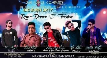 "Diwali Dhamaka Just Dance Company Present. "" BIG BASH 2K17 "" Banswara 20 Oct. Friday Nakshatra Mall, Banswara. Event by Kuldeep Singh Chouhan #KingRaa #UmangRajput #Event #JustDanceCompany #DiwaliDhamaka #NewYear #BigBash #positive #blessed #stagelifemicwife #SpreadLove"