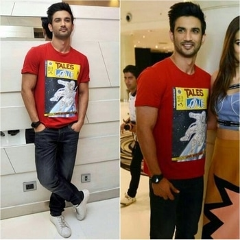 Sushant Singh Rajput Tshirt-Collective India Jeans-Fervour Shoes-Leather Crown Styled by-The Vainglorious