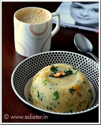 "Happy Sunday fellas I made ""upma & coffee"" for B/f..   #upma#veggies#coffeetime #healthybreakfast   Follow for Recipe @ www.edieter.in  Fitness experts & Dietician"
