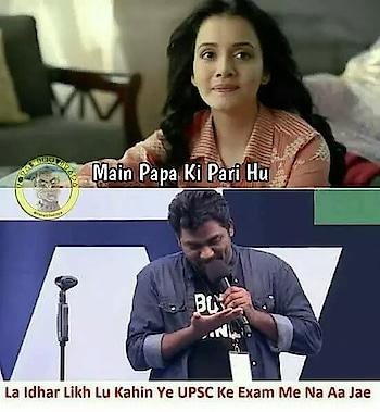 girl to #zakirkhan : main papa ki pari hoon ; reply : la hath mein likhlun #haha