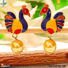 OR 40351 Material: Alloy  Size: Free Size  Description: It Has 1 Pair Of Earrings  Work: Beads  Dispatch: 2 – 3 Days