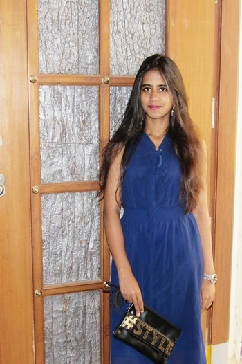 #mystylemanta  I always like to dress in such in a way in which I feel comfortable enough ..maxi dress  with wine coloured Lipper makes me on the go to party while a sleek envelope clutch and a watch makes my look complete