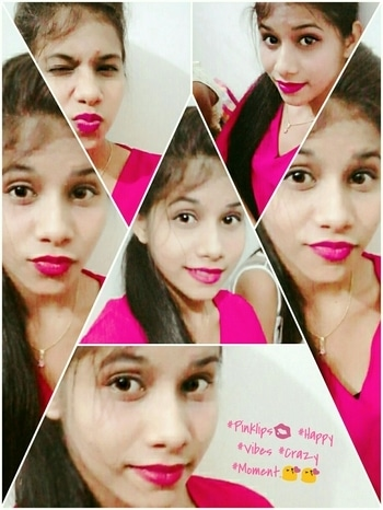 #Pinklips 💋 #Happy #Vibes #Crazy #Moments.😘😘 #lipcolour