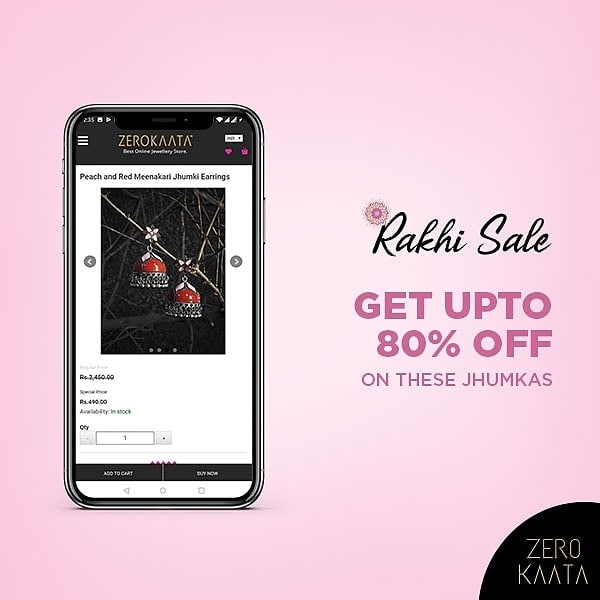 An offer that you can't resist!  Shop at our #rakhisale and get up to 80% off sitewide +  FREE #beautykit on every order of Rs 499 and above  LINK in the BIO to shop  #zerokaata #tribalbyzerokaata #rakhigifts #rakhigiftsforsister #giftsforrakhi #rakshabandhanspecial #rakshabandhan #rakhi2019 #rakhigiftforsister #rakhigiftstosister #rakhigiftsforsisterunder500 #rakshabandhangifts #festivaljewelry #festivaljewellery #festivecollection #festiveseason #festivalfashion #festivevibes #giftsforwomen #giftsforgirls #giftsforyou