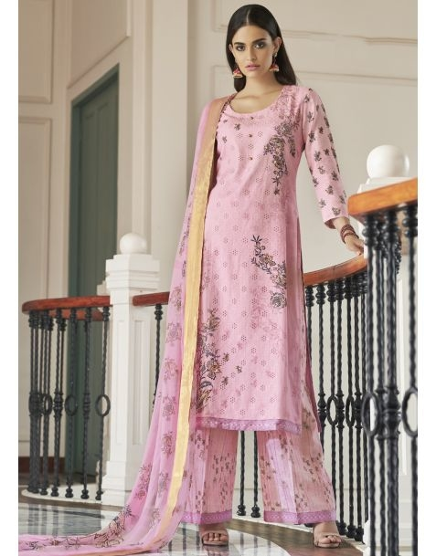 Light up your ethnic style with this #casualwearsalwarkameez  available @www.manndola.com  Grab Upto 65% OFF. Get additional 10% off on all orders above $199 using code EXTRA10 & extra 15% OFF by using code EXTRA15 !!   Beating the heat and Camouflaging with surroundings launched in new Jinaam's Afsana Collection. An Attractive Pink Casual Wear Straight Cut Style Suit with Pants which will snatch your glance for sure.This Garment features gorgeous Embroidered Digitally Printed Cotton Satin Top with matching Modal Cotton Jacquard Pants. This Stunning apparel comes with Bemberg Chiffon Dupatta with Jari border That adds grace to the Whole Dress.  #newarrivals #newlaunch #partywear #ethnicwear #anarkali #cotton  #embroideredwork  #style #photography #instamood #instaupload #fashion #indianfashion #ethnic #usa #india #canada #australia #dubai #uae #mauritius #london #uk #shoponlinenow