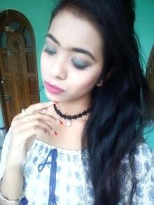 #blue #smokey #pink_lips #love#summer_time😘