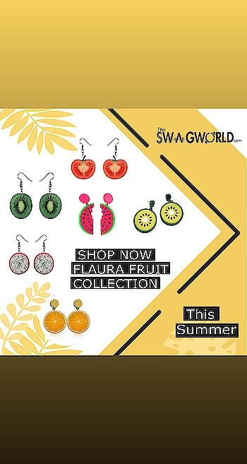 Shop stunning#fruit collection . .#TheswagWorld #jewelleryaddict #subscriptionbox #jewellerysubscriptionboxindia . @the_swagworld . Shop at www.theswagworld.com . WhatsApp on 9664352272 to place your order. . #subscriptionbox #monthly #theswagworld  #theswagbox #follow #subscriptionboxaddiction #varietiesofswagbox #loveforsubscriptionbox #ladiessubscriptionbox #classicswagbox #miniswagbox #swagboxwithabonus #princessswagbox #curateyourswagbox #stylemyswagbox #trendyjewelry #statementjewellery #thebnbmag  #floralswagbox #jewellery #jewelry #jewelryoftheday