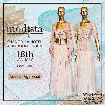 Soft hues embracing summer trends and playful fringes by @aneeshagarwaalofficial at MODISTA on 18th Jan , Shangrila Hotel from 10am- 8pm. . #Modista #modistarocks #Modistadxb #fashionexhibition #festivewear #dubaifashionbloggers #shoppingevent #exhibition #onedayonly  @ Shangri-La Hotel, Dubai
