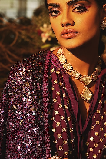 Sparkles this festive season with #NityaBajaj  Shop #SprinklebyNityaBajaj as we bring to you an exotic range of sequin splash this #autumnwinterfestive2019  #LabelNityaBajaj #NityaBajaj #AWF19  #bts #model #fashionshoot #purple Talent @roshoflove  Photography @prashhant_awasthi  HMU @gurumakeupart Jewelry @sunarjewels