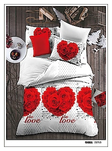 valentine special glace cotton bedsheets with two pillow covers 90*100 queen size   699+$pyl