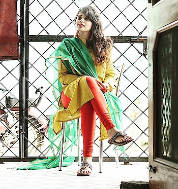 #spring #is #here  #yellow #red #green #outfitinspiration #ootd #pictureoftheday #lookbook #indian #ethnicwear #iwearindian #desigirl #indianwomen #indianblogger #stylepret #luxurypret