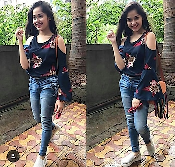 #jannat_zubair_rahmani #ropo-beauty #styling  look #denimlove #tvbythepeople #so-ro-po-so