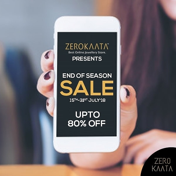Countdown to the #ZeroKaataEOSS begins! . .  Be there on ZeroKaata.com from 15th to 31st July to shop your favorite jewellery at up to 80% discount!  . . This Monsoon Its Raining Discounts . . #Eoss #EndOfSeasonSale #jewellerybrand #jewellerysale #sale #onlinejewelleryshopping #onlineshopping #onlinesale #mysterysale #freejewellery #freejewelry  #jewelry #jewels  #fashion #pendant #earrings #trendy #accessories #jewelrydesign #jewellerylover #beautiful #bracelet #style #necklace #fancyjewelry  #jewelryaddict #charm #jewelrydesign