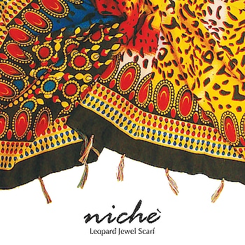 Here's our quirky Leopard Jewel Scarf from summer collection'18.  Shop at https://www.niche-one.com/collections/scarf/products/leapord-jewel-scarf  #scarflove #summerfun #fashionables #leopardprint #colourful #onlineshop