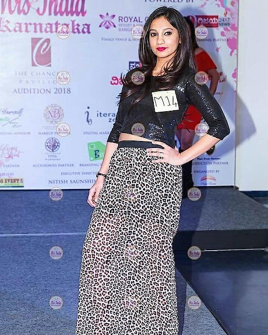 Mrs India Karnataka 2018 👑 #Finalist . . . . . . . . . . . . . . . . . . . . . . . . . . . . . . . . .  #mrsindia #mrskarnataka #mrsindiakarnataka2018 #mrsindia2018 #beautypageant #beautywithapurpose #rampwalk #pageantqueen #fashionista #pageantlife #bangalorefashion #crown #whatiwore #croptop #highslit #animalprint #trendingnow #mrs #bangaloremodel #indianpageant #bangaloreblogger #bangalorefashionblogger  . . crop top by @forever21