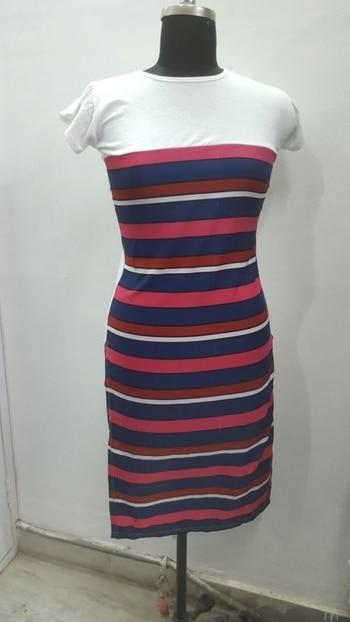 #dress #stripesdress #womenwear #bodycondress #tshirtdress #nightwear  Fabric-Hosiery crepe... Size-S, M, L, Xl Price-480+$