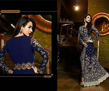 D.NO 6203  Top georgette Dupatta chiffon Bottom santoon  Now in 4 color Blue/maroon/black/green  Price 3125-+Shipping Cost Extra  Call or WhatsApp  on  918097775536 From  ArtistryC.in